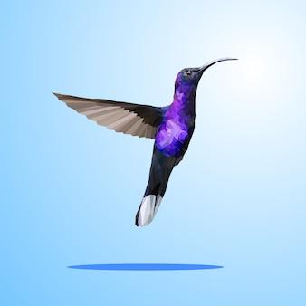 Polígono animais pássaro geométrico