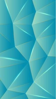 Polígono, azul bebê abstrato, papel de parede gradiente turquesa ilustração vetorial de fundo