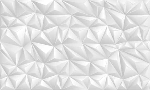 Polígono branco geométrico sem costura futurista tecnologia design textura de fundo vetor