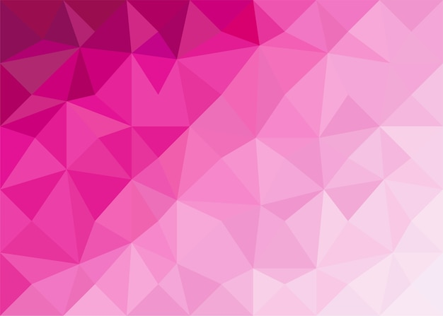 Polígono de gradiente rosa