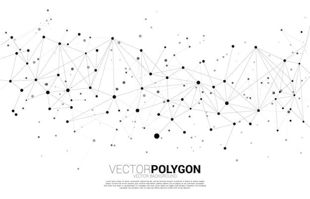 Polígono de ponto de conexão de rede. conceito de tecnologia de rede e estilo futurista.