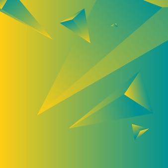 Polígono, fundo de papel de parede gradiente abstrato colorido, amarelo, verde-azulado