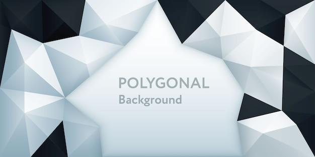 Polígono fundo de triângulo geométrico poligonal abstrato