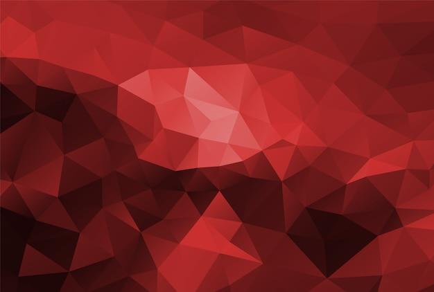 Polígono fundo vermelho escuro