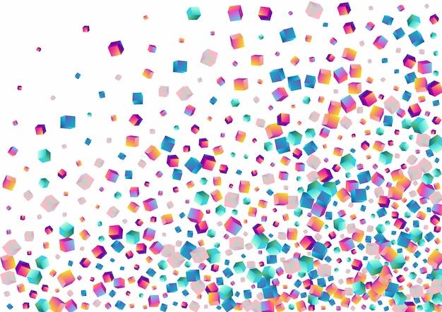 Polígono holográfico. losango brilhante multicolorido. modelo de estrutura de cubo de gradiente.