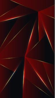 Polígono, ilustração em vetor fundo gradiente vermelho abstrato, preto papel de parede