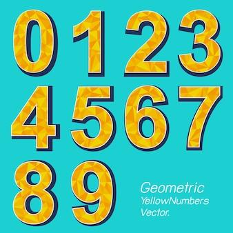 Polígono número amarelo