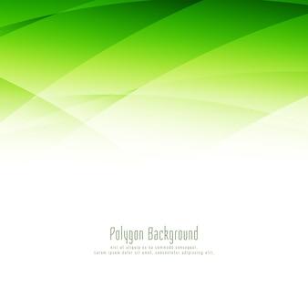 Polígono verde elegante abstrato com fundo elegante