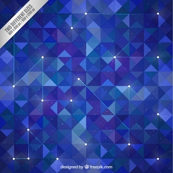 Polígonos fundo azul no estilo galáxia
