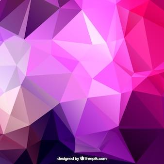 Polígonos fundo roxo