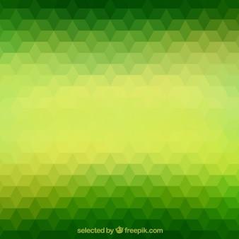 Polígonos verdes fundo