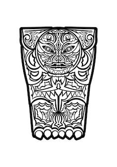 Polinésia tatuagem pulso manga padrão tribal antebraço. vetor de ornamentos de modelo étnico.