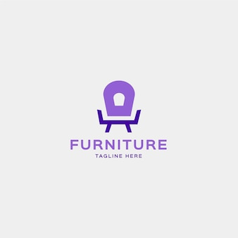 Poltrona forma logotipo para empresa de móveis