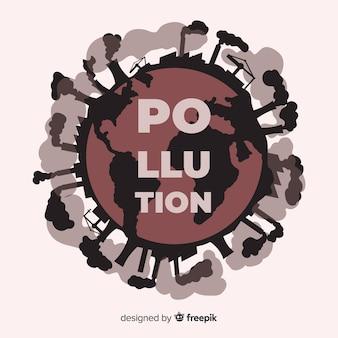 Poluição causada por fábricas industriais