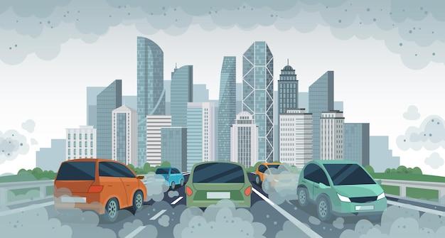 Poluição do ar de carros