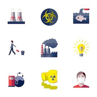 Poluição, tóxico, meio ambiente, dano, e, global, contaminação, apartamento, isolado