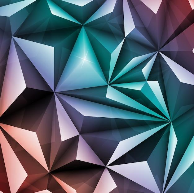 Polygon abstract geometric triangle fundo multicolorido