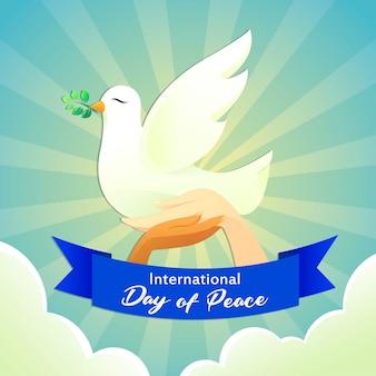 Pomba cartaz dia da paz