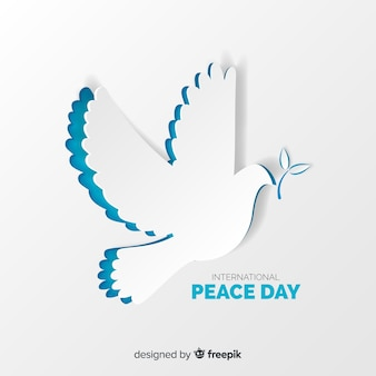 Pomba de papel para o dia internacional da paz