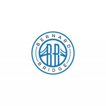 Ponte carimbo minimalista moderna com logotipo do monograma