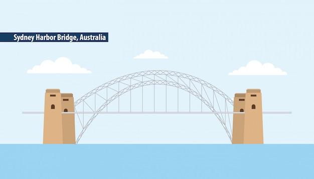 Ponte do porto de sydney, austrália