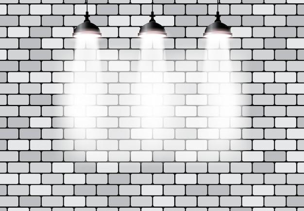 Ponte efeito vazio luz em branco