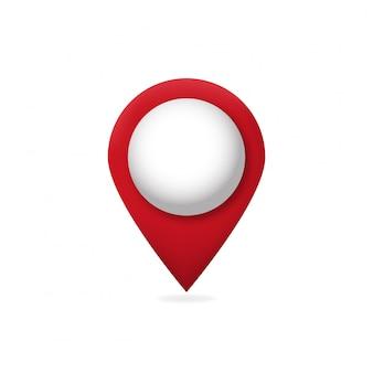 Ponteiro de mapa 3d.