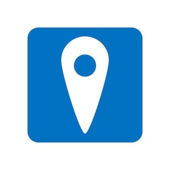 Ponteiro do mapa. símbolo de localização gps. ícone de vetor de localização. ilustração do conceito de vetor plana isolada no fundo branco