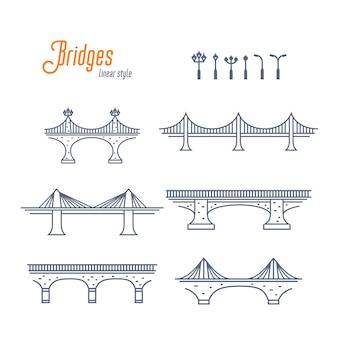 Pontes e postes de luz