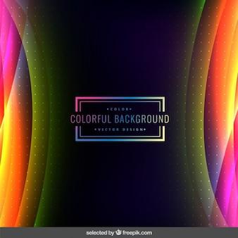 Pontilhada e ondulado fundo colorido