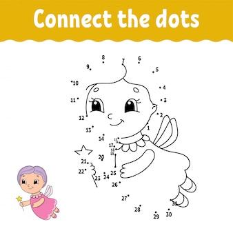 Ponto a ponto. desenhe uma linha. prática de caligrafia. aprendendo números para crianças.
