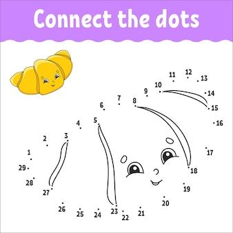 Ponto a ponto desenhe uma linha prática de escrita à mão aprendendo números para crianças