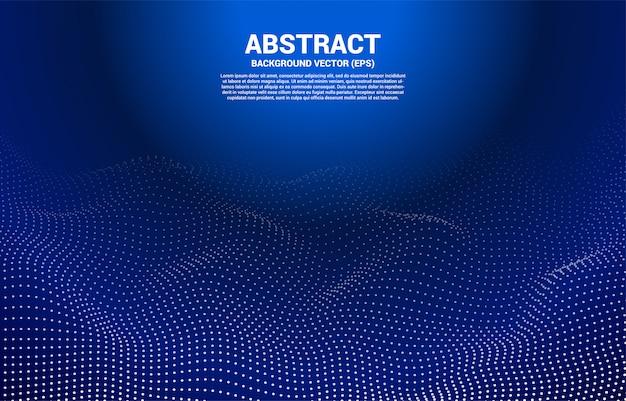 Ponto de curva de contorno digital e linha e onda com estrutura de arame. abstrato para o conceito de tecnologia futurista 3d