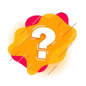 Ponto de interrogação moderno para página de ajuda e suporte
