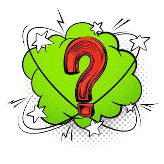 Ponto de interrogação na ilustração do balão de fala