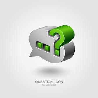 Ponto de interrogação no balão de fala, conceito de interrogatório