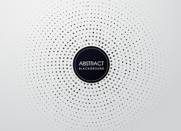 Ponto de meio-tom do vetor com o quadro de círculo preto. olhar moderno.