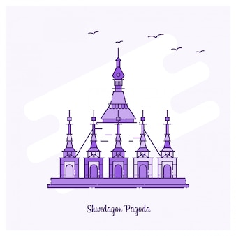 Ponto de shwedagon pagoda