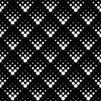 Ponto monocromático retrô geométrico de padrão sem emenda