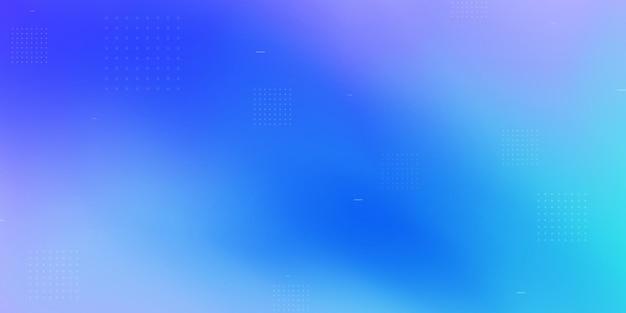 Pontos brancos adornam um fundo azul abstrato.