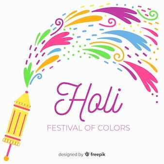 Pontos coloridos holi festival fundo
