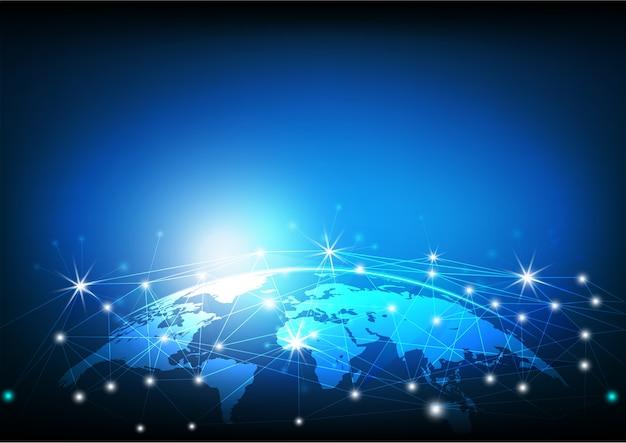 Pontos conectados em todo o mundo