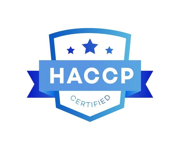 Pontos de controle críticos de análise de risco haccp certificado estilo plano de cor prêmio isolado no branco