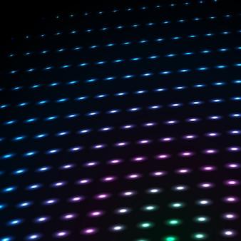 Pontos de néon cor abstrata azul, pontilhada de fundo de tecnologia.