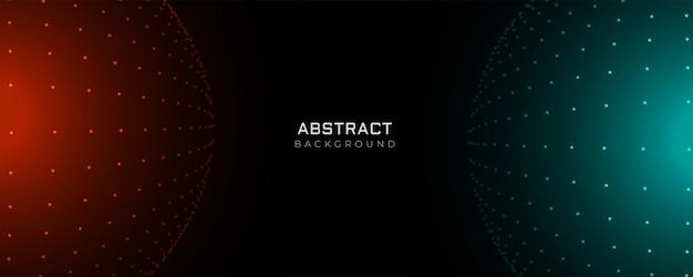 Pontos de partícula futurista abstraem base