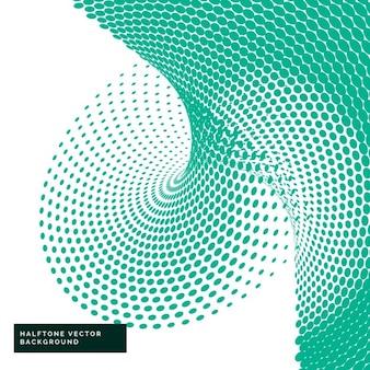 Pontos de retícula verdes no estilo abstrato