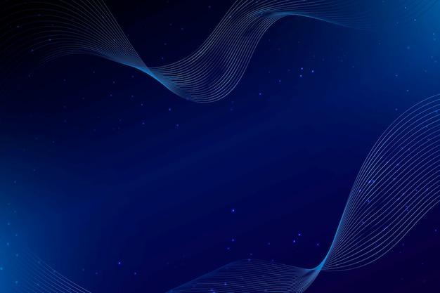 Pontos e ondas azuis escuros abstraem base