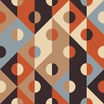 Pontos e padrão sem emenda de forma geométrica quadrada, papel de parede retrô, fundo abstrato de vetor