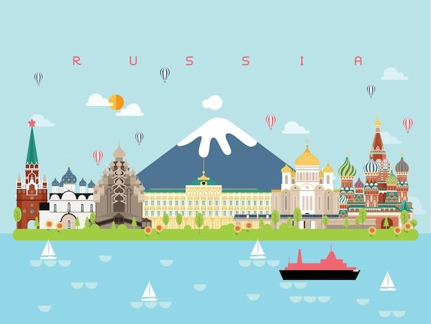 Pontos turisticos em rusia