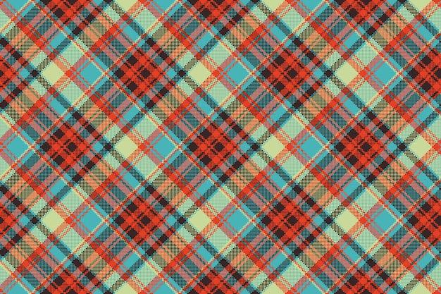 Pop art cor seleção textura de tecido sem costura pixel xadrez